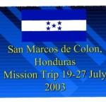 Honduras 2003 outreach